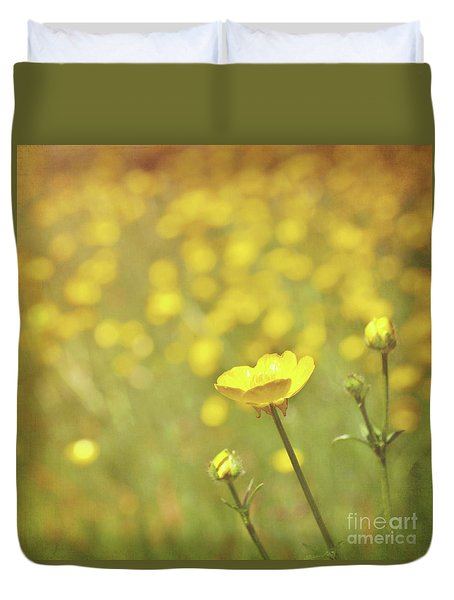 Buttercups Duvet Cover by Lyn Randle