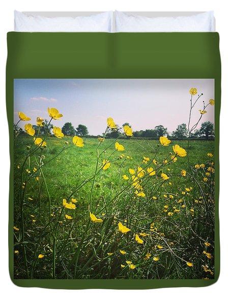 Buttercups Meadow Duvet Cover