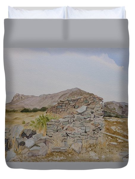 Old Butterfield Stage Station Duvet Cover by Joel Deutsch