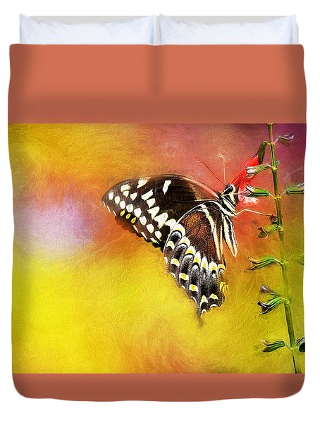 Butterflies Are Self Propelled Flowers Duvet Cover