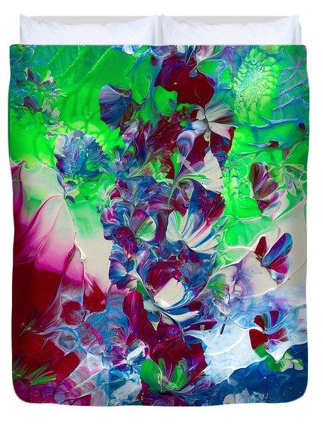 Butterflies, Fairies And Flowers Duvet Cover