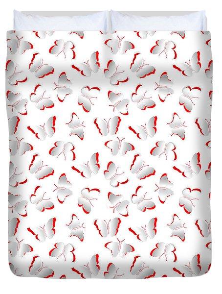 Duvet Cover featuring the photograph Butterflies by Gary Crockett
