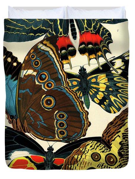 Butterflies, Plate-2 Duvet Cover