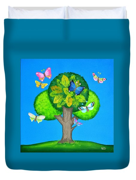 Butterflies Refuge Duvet Cover