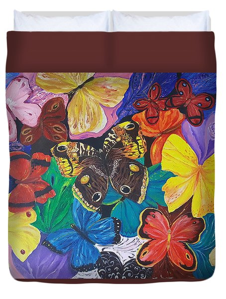 Butterflies Duvet Cover by Rita Fetisov