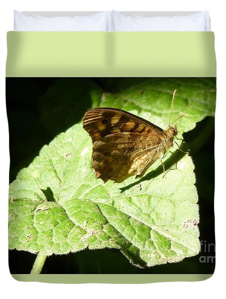 Duvet Cover featuring the photograph Butterfly 2 by Jean Bernard Roussilhe