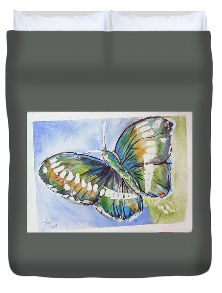 Butterfly 2 Duvet Cover by Loretta Nash