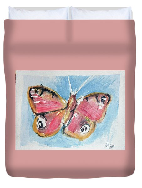 Butterfly 3 Duvet Cover by Loretta Nash