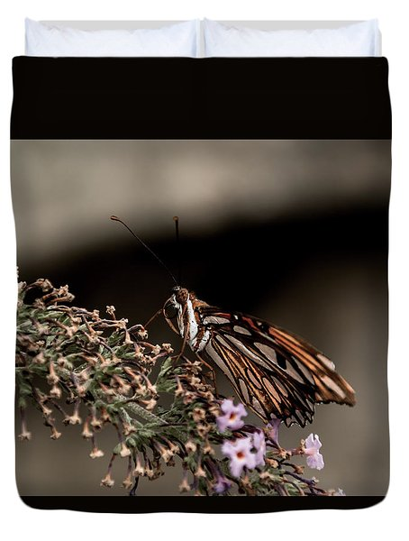 Duvet Cover featuring the photograph Butterfly 4 by Jay Stockhaus