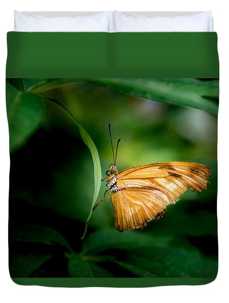 Duvet Cover featuring the photograph Butterfly 5 by Jay Stockhaus