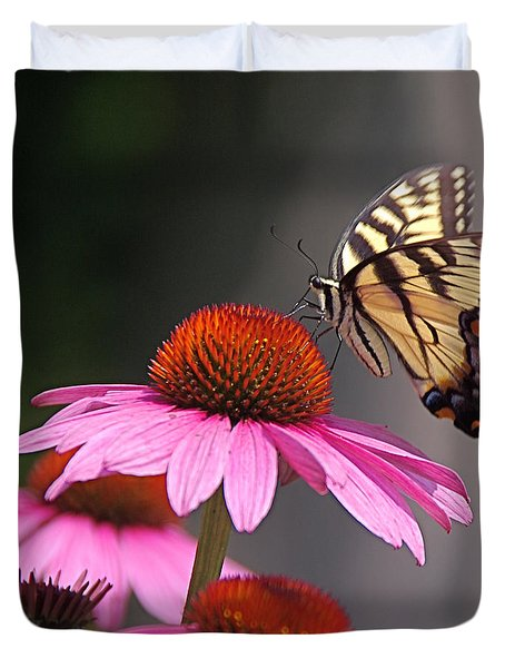 Butterfly And Coneflower Duvet Cover