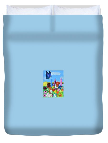 Butterfly Duvet Cover by Artists With Autism Inc