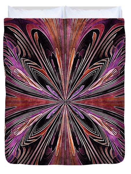 Butterfly Art Nouveau Duvet Cover by Susan Maxwell Schmidt
