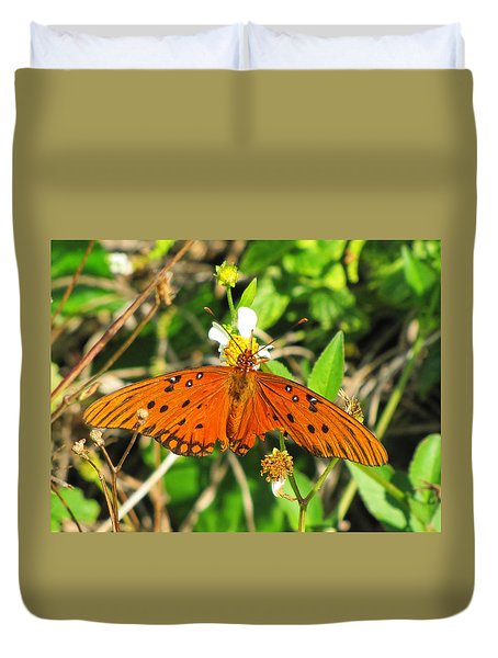 Butterfly At Canaveral National Seashore Duvet Cover