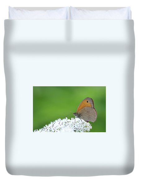 Duvet Cover featuring the photograph Butterfly by Bess Hamiti