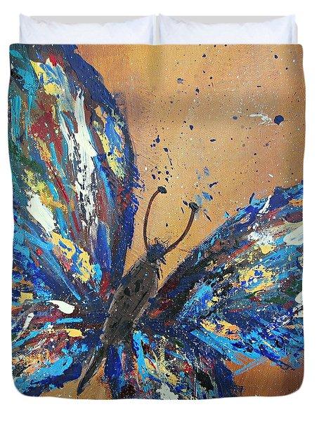 Butterfly Blue Duvet Cover