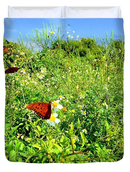 Butterfly Bonanza Duvet Cover
