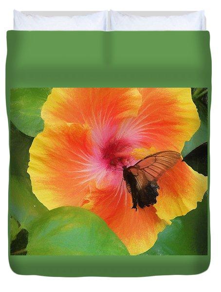 Butterfly Botanical Duvet Cover