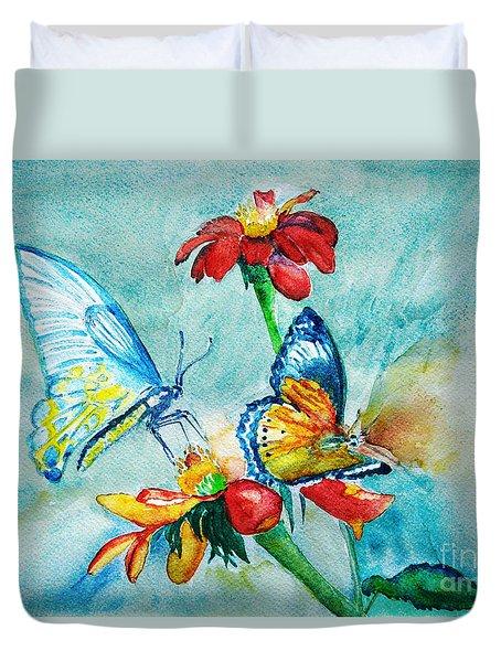Butterfly Dance Duvet Cover