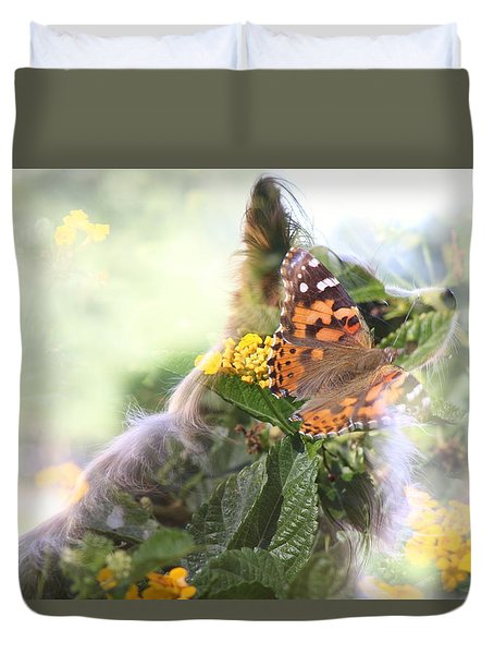 Butterfly Dog Duvet Cover