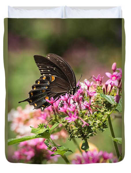 Duvet Cover featuring the photograph Butterfly Dream by Julie Andel