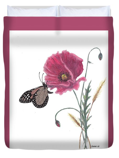 Butterfly Dreaming Duvet Cover by Stanza Widen