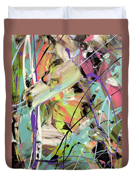 Butterfly Effect Abstract Duvet Cover by Erika Pochybova