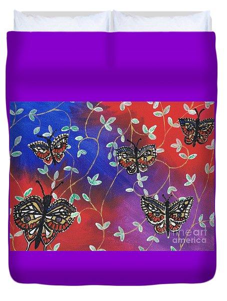 Butterfly Family Tree Duvet Cover