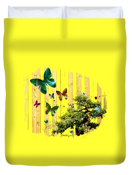 Butterfly Garden Duvet Cover by Jennifer Muller