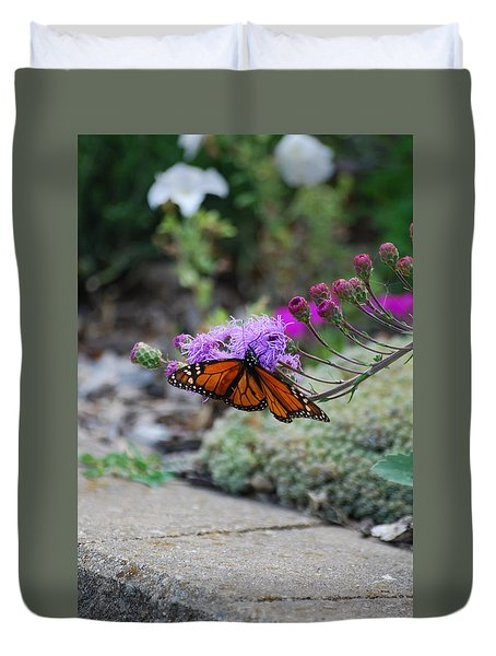 Duvet Cover featuring the photograph Butterfly Garden by Ramona Whiteaker