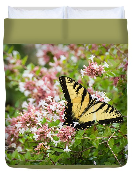 Duvet Cover featuring the photograph Butterfly Haven by Julie Andel
