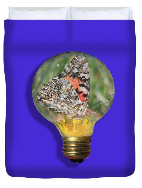 Butterfly In A Bulb II Duvet Cover