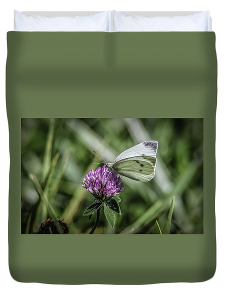 Butterfly In Love Duvet Cover by Ray Congrove