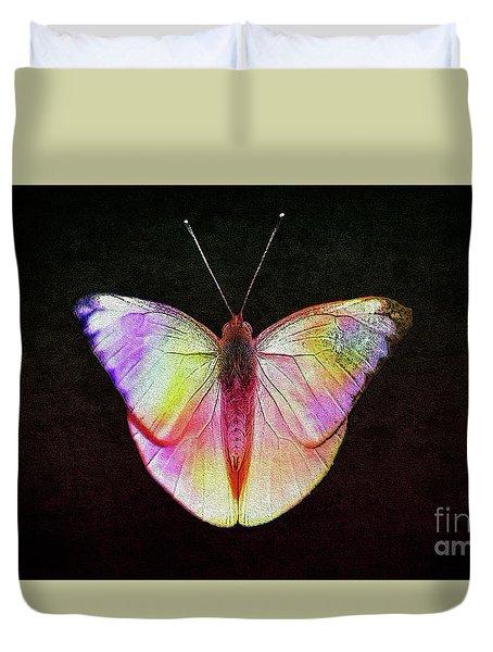 Butterfly In Retro  Duvet Cover