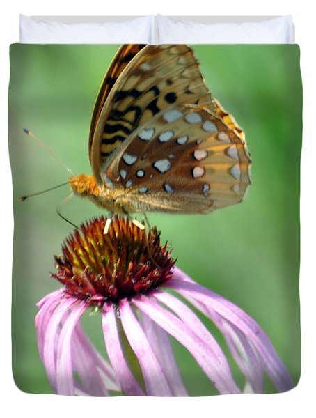 Butterfly In The Wind Duvet Cover by Marty Koch