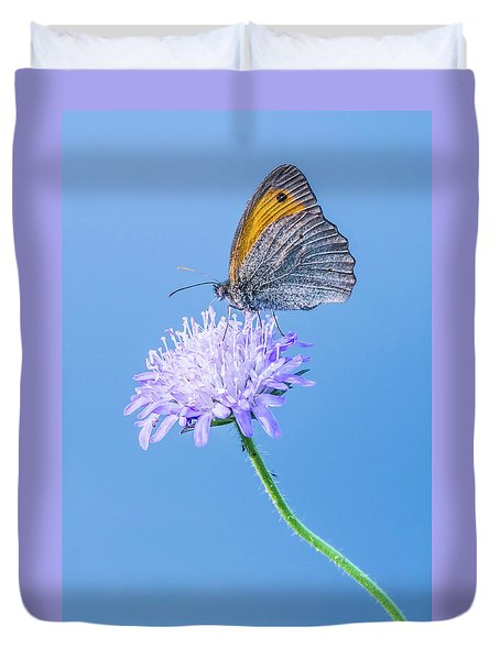 Duvet Cover featuring the photograph Butterfly by Jaroslaw Grudzinski