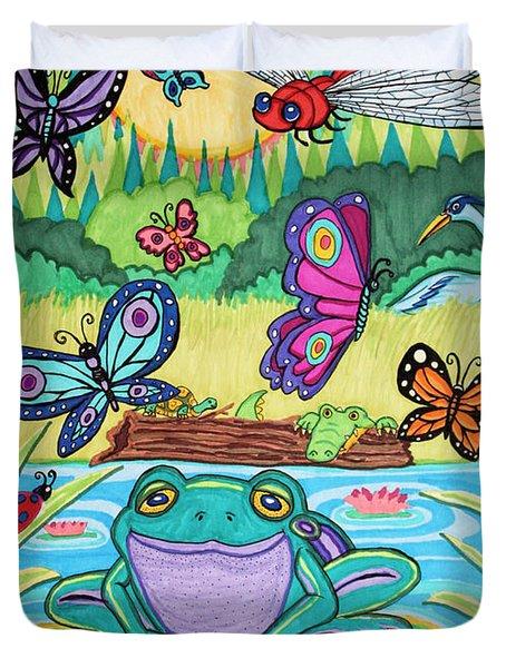 Butterfly Lake Duvet Cover