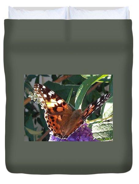 Butterfly Landing Duvet Cover