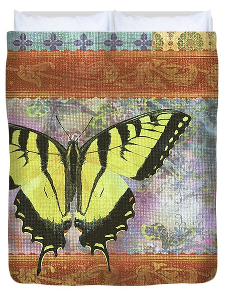 Butterfly Mosaic Duvet Cover by JQ Licensing