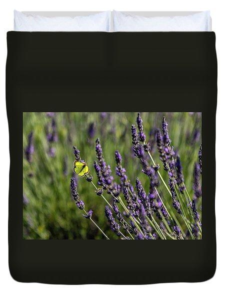 Butterfly N Lavender Duvet Cover