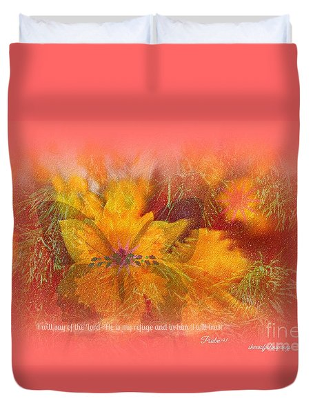 Butterfly Of Love And Peace Duvet Cover