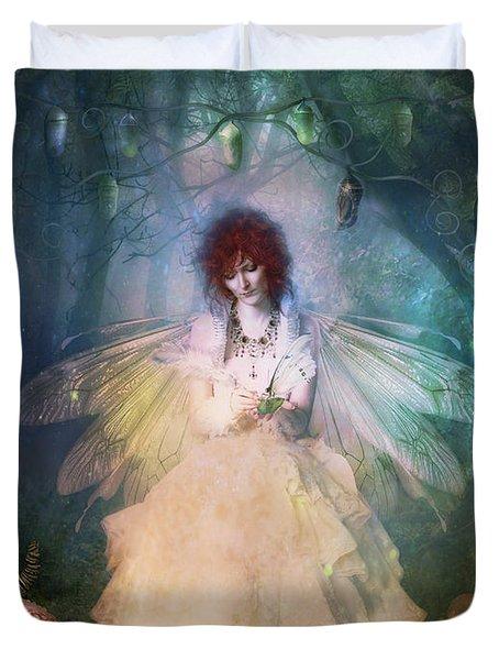 Butterfly Painter Duvet Cover