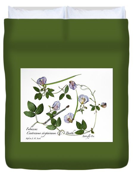 Butterfly Pea Duvet Cover
