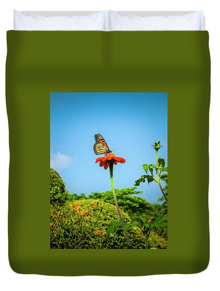 Butterfly Perch Duvet Cover