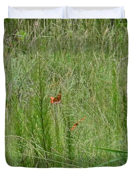 Duvet Cover featuring the photograph Butterfly Playground by Carol  Bradley