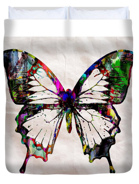 Butterfly Rainbow Duvet Cover