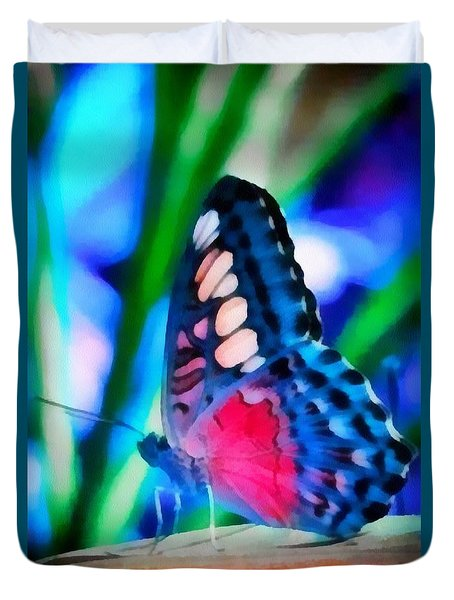 Butterfly Realistic Painting Duvet Cover