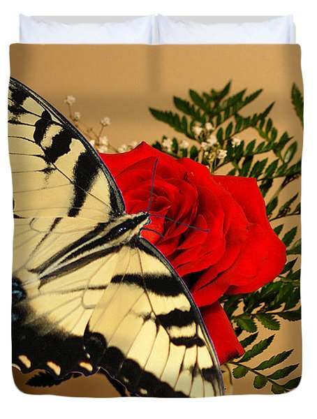 Butterfly Rose Duvet Cover