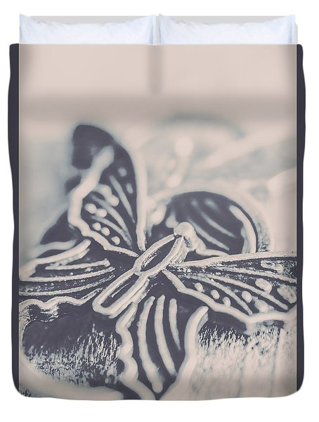 Butterfly Shaped Charm Duvet Cover