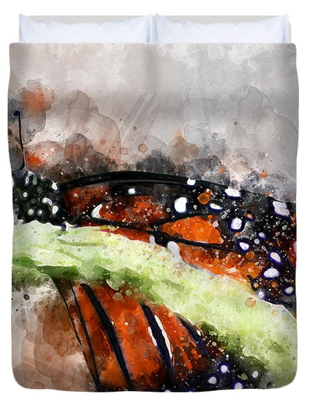 Butterfly Watercolor Duvet Cover